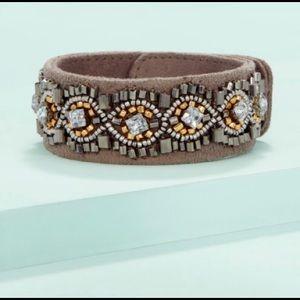 Stella & Dot Faye Embroidered Bracelet